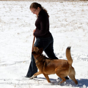 Katrina and Cora with original the Working Dog Lead